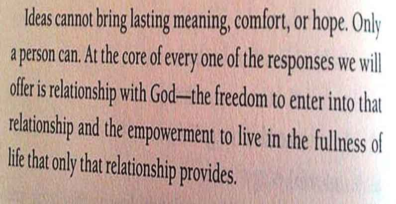 "The statement suggested by Ravi and Vince in the book ""Why Suffering"""