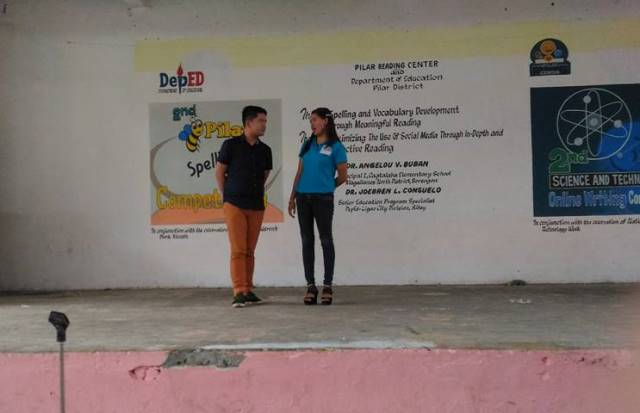 Dr. Angelo V. Buban at Pilar Reading center